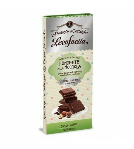SUGAR FREE DARK CHOCOLATE & HAZELNUT 62% COCOA - 75g