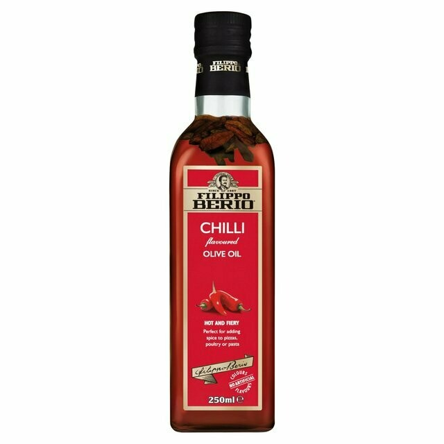 FILIPPO BERIO CHILLI FLAVOURED OLIVE OIL - 250ml