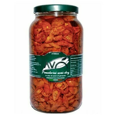 3.1KG SEMI DRIED CHERRY TOMATOES IN SUNFLOWER OIL - Avo