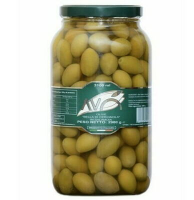 BELLA DI CERIGNOLA GREEN OLIVES IN BRINE - 3.1kg