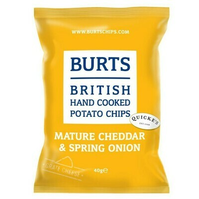 BURTS MATURE CHEDDAR AND SPRING ONION CRIPS - 20x40gr