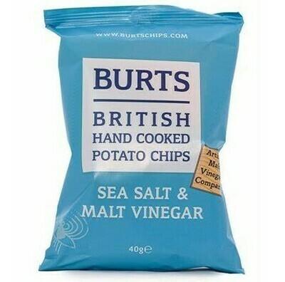 BURTS SEA SALT AND MALT VINEGAR CRISPS - 20x40gr