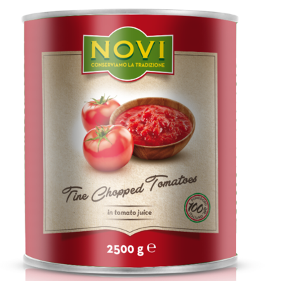 NOVI ITALIAN FINELY CHOPPED TOMATOES - 6x2.5kg