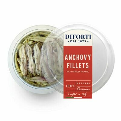 MARINATED ANCHOVIE FILLETS - 245gr