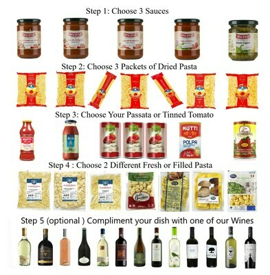 COOKING AT HOME PASTA AND SAUCE BOX  - Create Your Own