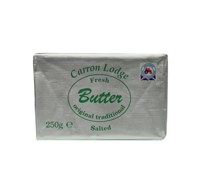 CARRON LODGE SALTED BUTTER - 40x250gr