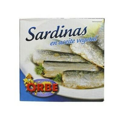 SARDINES IN VEGETABLE OIL - 520gr