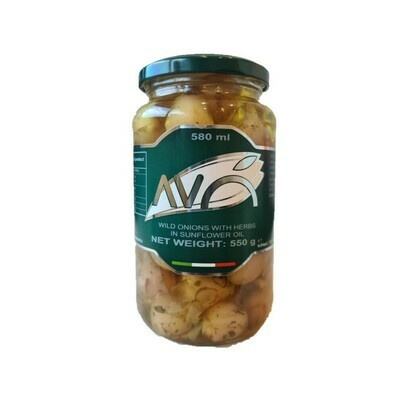 "WILD ONIONS BULBS ""LAMPASCIONI"" WITH HERBS IN SUNFLOWER OIL  - 550gr"
