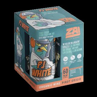 "ORGANIC WHITE WINE CANS ""PJ WHITE"" PINOT GRIGIO ABV 10% - 4X250ml"