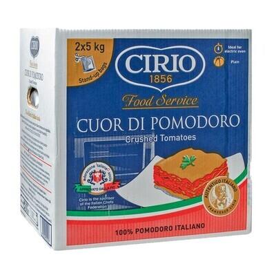 """CIRIO CRUSHED TOMATOES """"CUOR DI POMODORO"""" - 2x5kg (pouch)"""