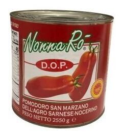 PEELED TOMATOES SAN MARZANO D.O.P Nonna Ro` - 6x2.5kg