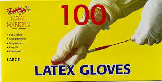 100 X LARGE LATEX GLOVE