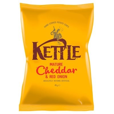 KETTLE MATURE CHEDDAR AND RED ONION - 18x40g