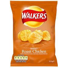 32x34.5g WALKERS ROAST CHICKEN CRISPS
