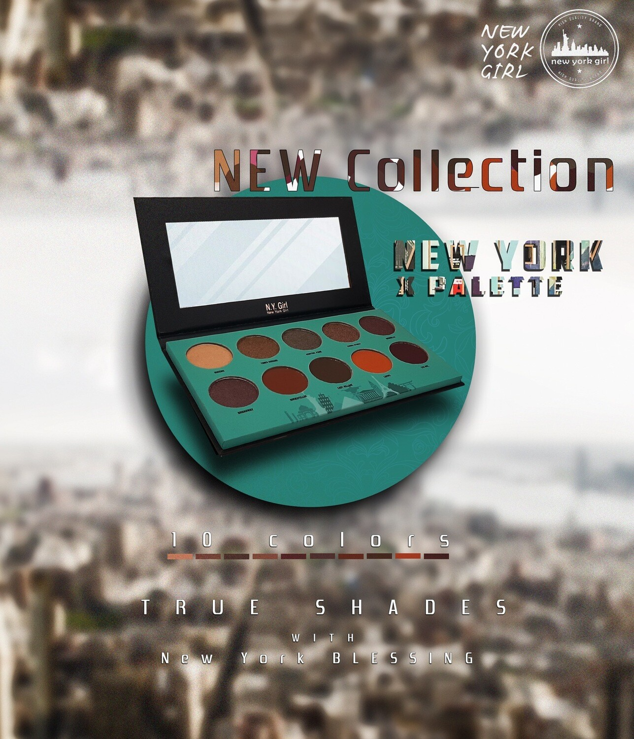 NYGX New York X Palette - 10 Colors