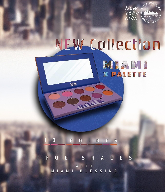 NYGX - Miami X Palette - 10 Colors Palette