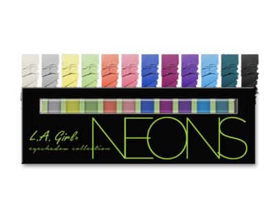 GES334 BEAUTY BRICK EYESHADOWS - Neon ظلال عيون
