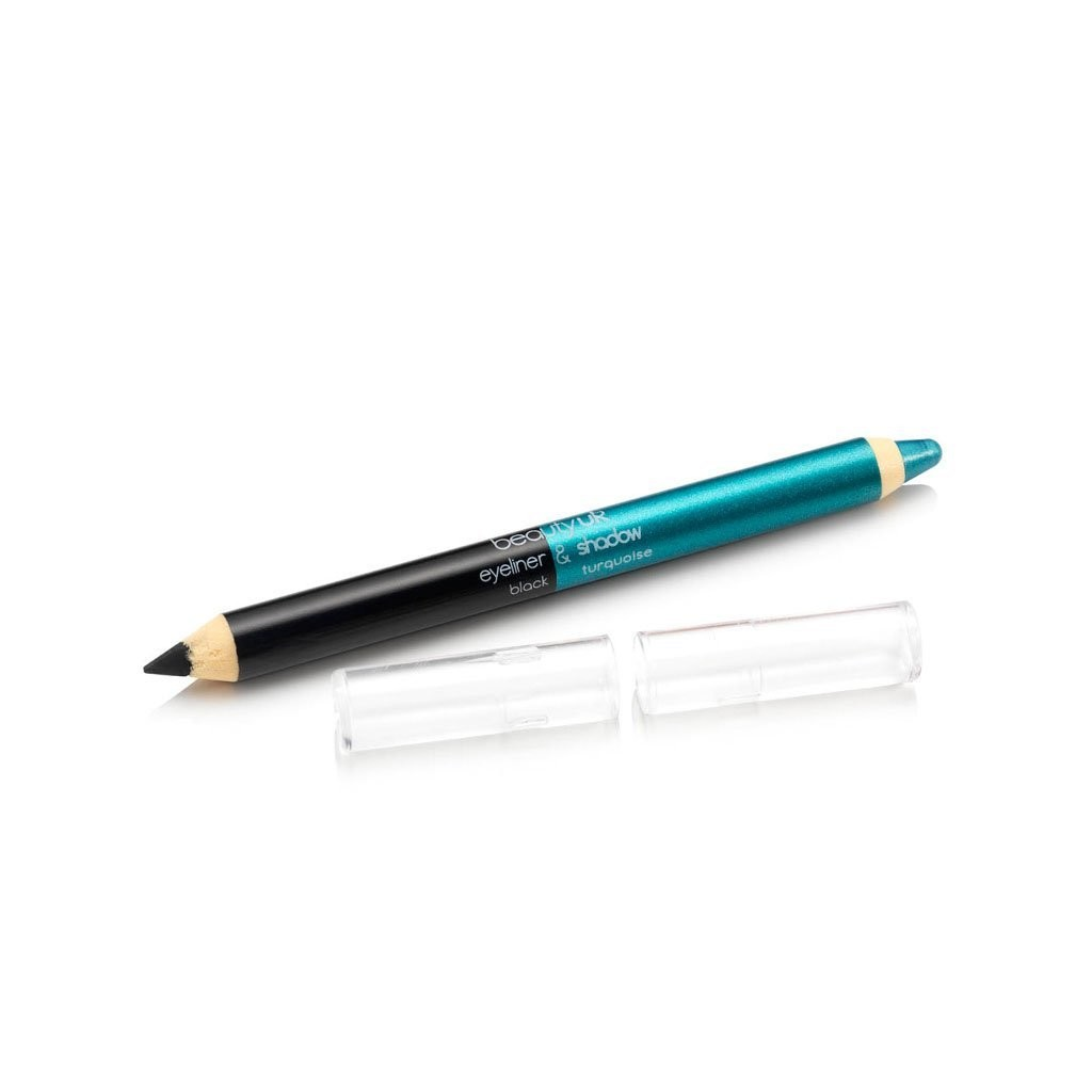 BE2137-3 Double ended jumbo pencil no.3 black and turquoise قلم كحل و ظلال