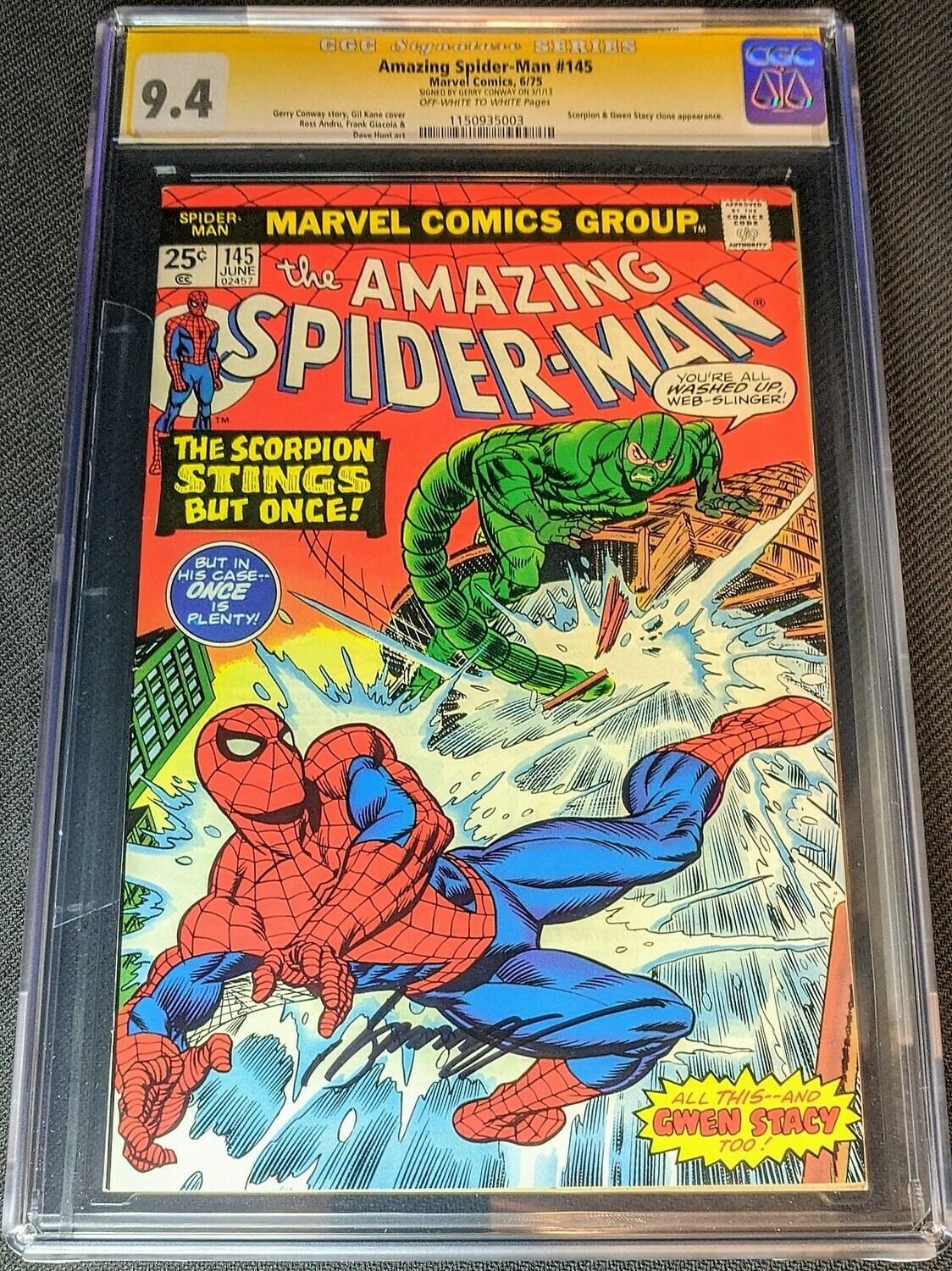 Amazing Spider-Man 145 Signed by Gerry Conway