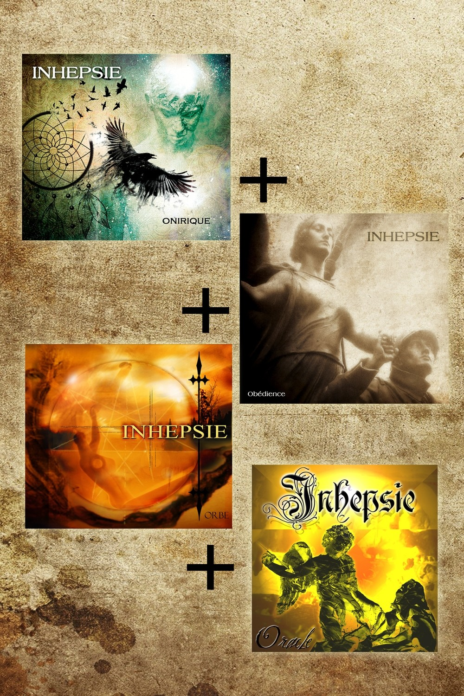 Pack des 4 Albums Inhepsie