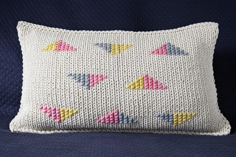 Triangles - Light Pink, Grey, Chartreuse
