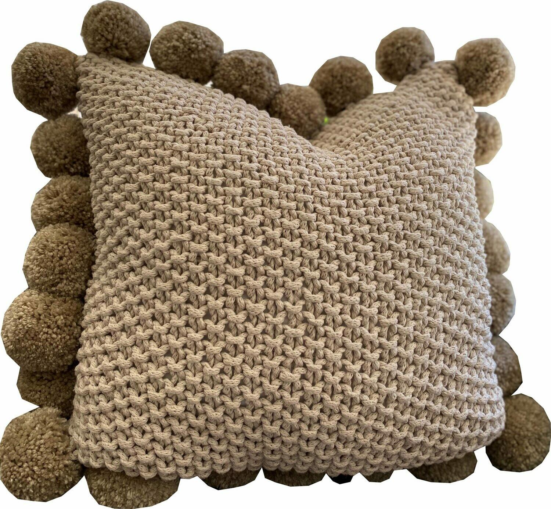 Naturals - Pom Pom Cushion
