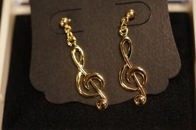 Boucles d'oreille clé de Sol