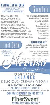 Crema Dolce -1 Net Carb- (4-6 cups milk)   -BOOST IMMUNE SYSTEM-  Anti-inflammatory Antioxidant AntiViral -NON-Dairy Creamer - Sugar-Free - VEGAN KETO --FREE SHIPPING--
