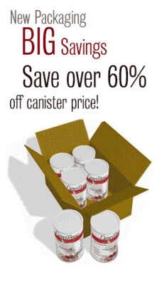 DariFree Case (6 cans) - NEW DF PACKAGING - Save over 60% - Cases have been replaced with 1Kg bags, Makes 14-18 quarts. 2 Bags replace a case. Save over 60%