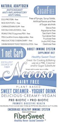 SWEET Creamer - Yogurt Drink - (24)Travel packs (makes 4-8 cups ea.) ANTI-Viral -BOOST IMMUNE SYSTEM- Anti-inflammatory - Antioxidant - KETO - VEGAN --(1) ONE NET CARB--