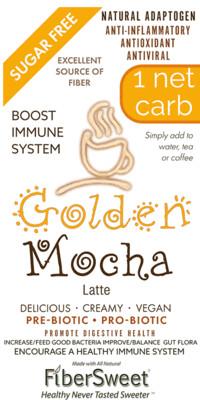-- Golden Mocha --   Latte -1 Net Carb NEVOSO ANTI-Viral -BOOST IMMUNE SYSTEM-  Anti-inflammatory - Antioxidant - NON-Dairy Creamer - Sugar Free - DariFree - Smooth and Creamy VEGAN KETO
