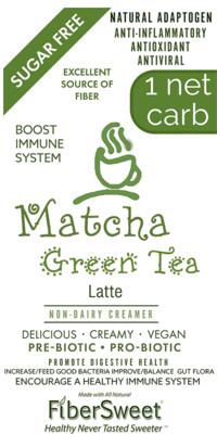 Matcha Green Tea Latte NEVOSO 1 Net Carb ANTI-Viral -BOOST IMMUNE SYSTEM-  Anti-inflammatory - Antioxidant - Dairy-Free Creamer - Sugar Free - DariFree - Smooth and Creamy VEGAN KETO