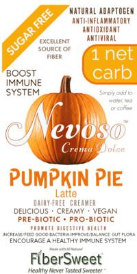 Pumpkin Pie  Latte - 1pack (makes 2 cups) 1 Net Carb ANTI-Viral -BOOST IMMUNE SYSTEM-  Anti-inflammatory - Antioxidant - Dairy-Free Creamer - Sugar Free - DariFree - Smooth and Creamy VEGAN KETO