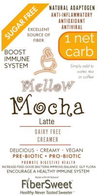 - Mellow Mocha - Latte NEVOSO 1 Net Carb ANTI-Viral -BOOST IMMUNE SYSTEM-  Anti-inflammatory - Antioxidant - Dairy-Free Creamer - Sugar Free - DariFree - Smooth and Creamy VEGAN KETO