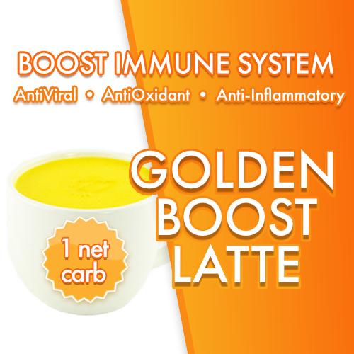 GOLDEN BOOST Latte | Turmeric Amla Creamer | Magic Bullet Coffee | 1 NET CARB | BOOST IMMUNE SYSTEM Anti-inflammatory AntiViral Antioxidant DairyFree SugarFree GFCF VEGAN KETO