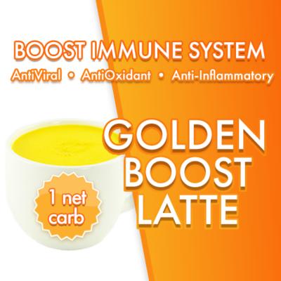 GOLDEN BOOST Latte | Turmeric Amla Creamer | Magic Bullet Coffee | 1 NET CARB | BOOST IMMUNE SYSTEM Anti-inflammatory AntiViral Antioxidant DairyFree SugarFree GFCF VEGAN KETO