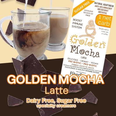 -- Golden Mocha --   Latte -1 Net Carb NEVOSO ANTI-Viral -BOOST IMMUNE SYSTEM-  Anti-inflammatory - Antioxidant - NON-Dairy Creamer - Sugar-Free Dairy-Free - Smooth and Creamy VEGAN KETO