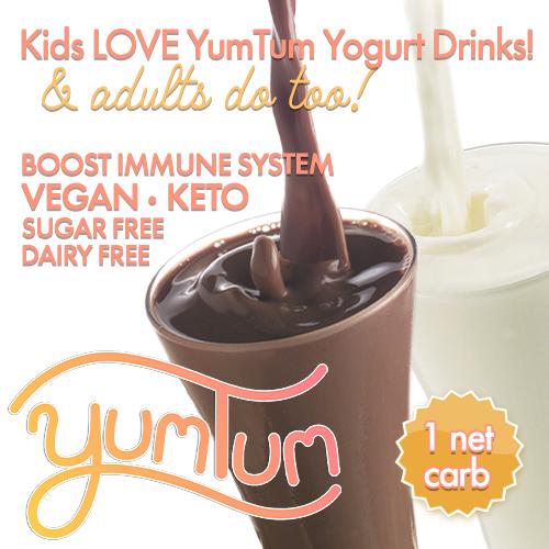 YUMTUM Yogurt Drinks - SWEET Creamers - Choose A Travel pack (makes 4-8 cups) Sugar-free Dairy-free -BOOST IMMUNE SYSTEM- Anti-inflammatory AntiViral Antioxidant - KETO VEGAN - FREE SHIPPING