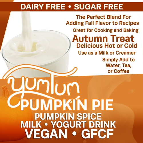 Pumpkin Pie - Pumpkin Spice Milk / Yogurt Drink | Add Fall Flavor to Recipes | Delicious Hot or Cold | -Immune Support- AntiViral Antioxidant Anti-inflammatory DairyFree SugarFree GFCF VEGAN