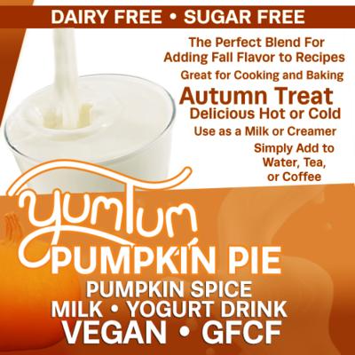 Pumpkin Pie - Pumpkin Spice Milk / Yogurt Drink | Add Fall Flavor to Recipes | Delicious Hot or Cold | BOOST IMMUNE SYSTEM AntiViral Anti-inflammatory Antioxidant SugarFree DairyFree GFCF VEGAN