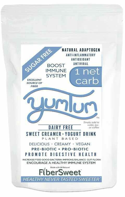 (BULK) YUMTUM Yogurt Drink SWEET Creamer Resealable Pouch (Makes 50-100 cups) 1 NET CARB IMMUNE SUPPORT AntiViral Anti-inflammatory Antioxidant SugarFree DairyFree GFCF VEGAN KETO