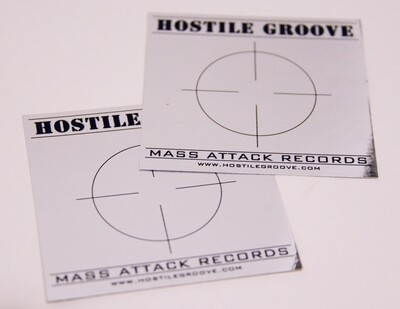 Hostile Groove Massattack Records Sticker *rare