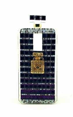 iPhone 6/7/8 Perfume Bottle w/ Ring Holder (Blue & White)
