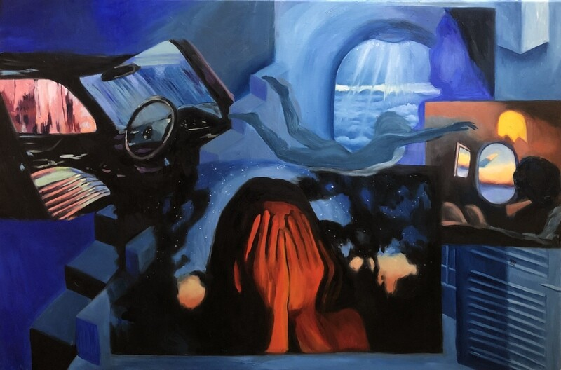 Feeling Blue - Oil on Canvas