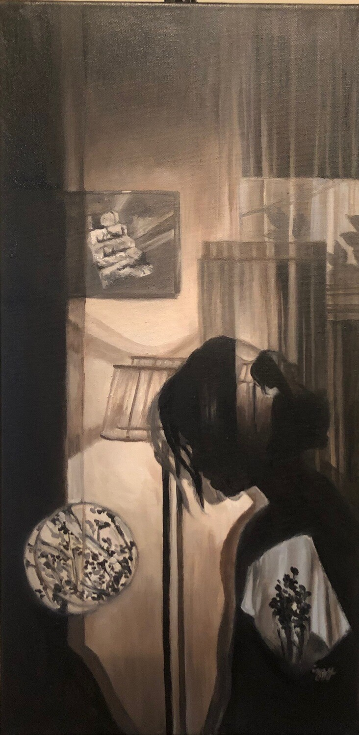 Late / Reflection - Oil on canvas
