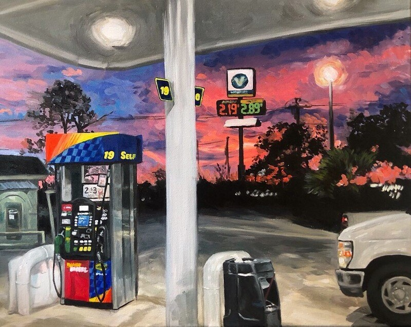 Gas - Oil on Canvas