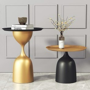 Modern Style Round Hourglass Coffee Table