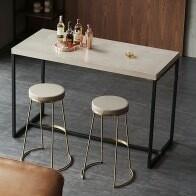 Industrial Gray Bar HT. Small Dining Table - Breakfast Nook