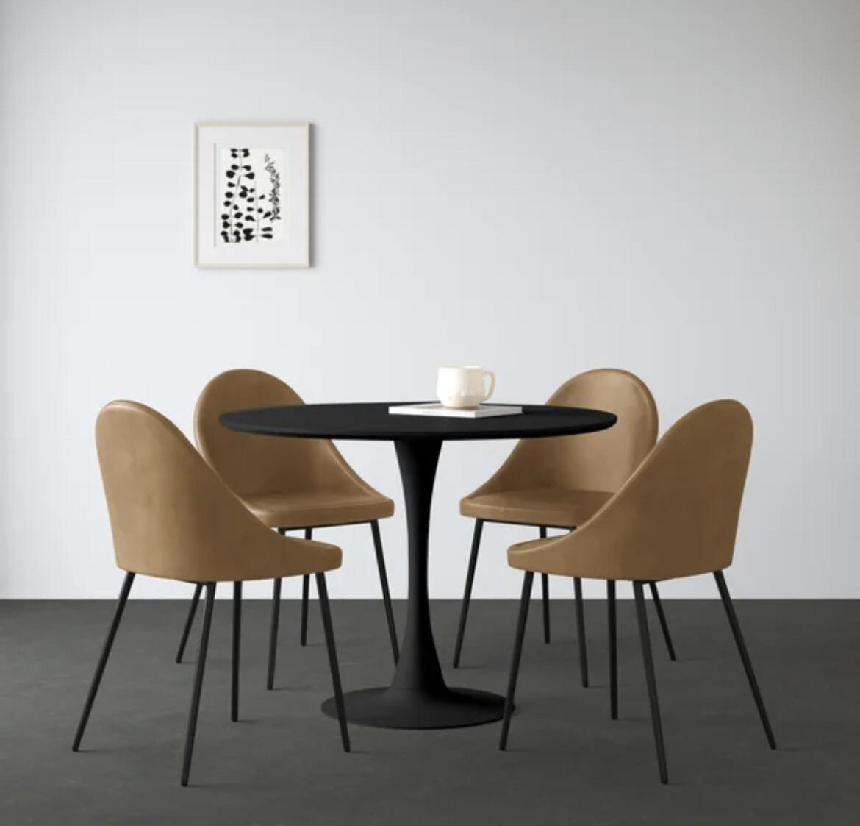 HONEY & BLACK | 5 PC. DINING SET