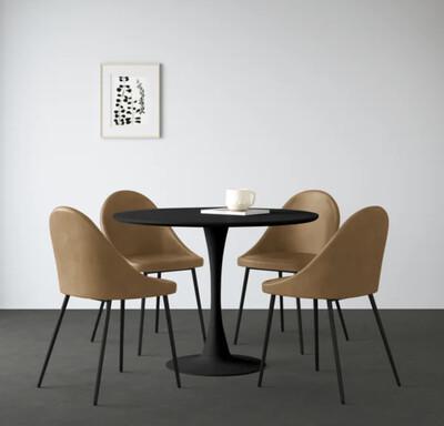 HONEY & BLACK   5 PC. DINING SET